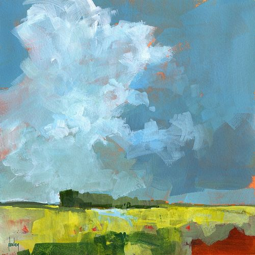 Paul Bailey. Yellows and greens... remind me of the Freestate. Love the dark moody clouds too. Liz