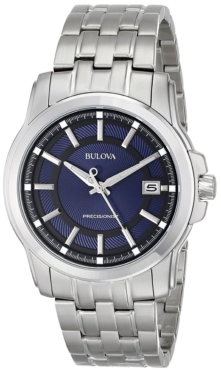 Bulova Men's Precisionist Blue Dial and Stainless Steel Watch ** See this great product. (This is an Amazon Affiliate link and I receive a commission for the sales)