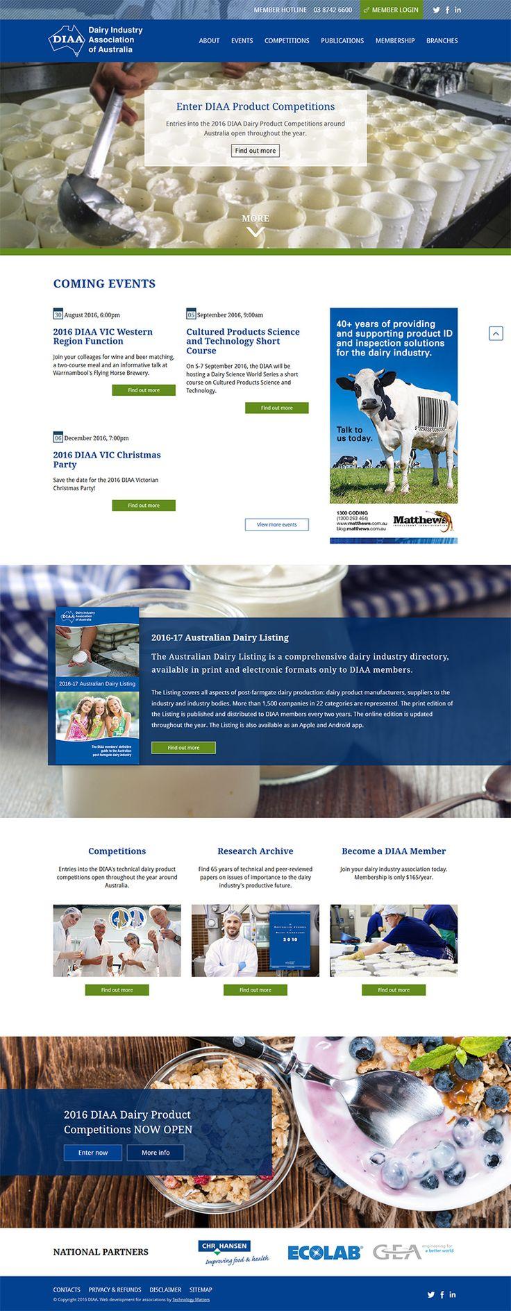 OUR PORTFOLIO Dairy Industry Association of Australia -Technology Matters, Melbourne.