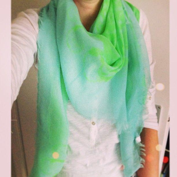 Sjaal met neon print