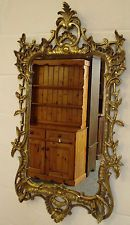 "LARGE GOLD ROCOCO BAROQUE PLASTER MIRROR SIZE 26"" WIDTH X 46"" LONG"