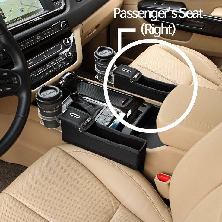 KMMOTORS Coin Side Pocket, Console Side Pocket, Car Organizer Black Passenger