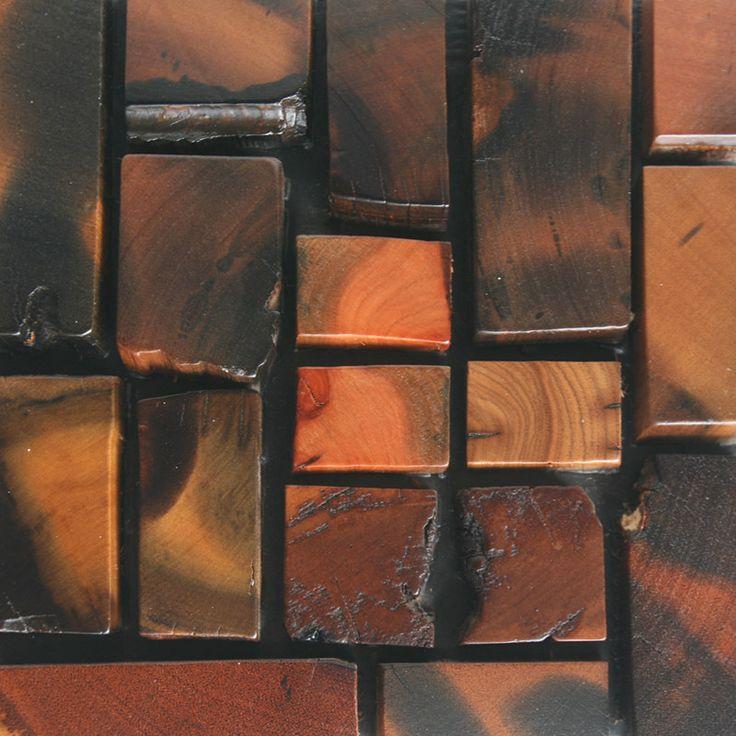 Корабль древесины твердой древесины мозаика стены отделочные материалы HMWM1003 для backsplash кухни стикер стены ванной плитка