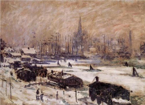Amsterdam in the Snow - Claude Monet