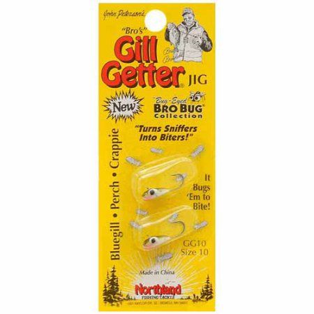 Northland Tackle Gill-Getter Jig Bro's Bug Collection, #10, Green