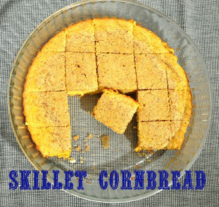 Skillet cornbread senza glutine