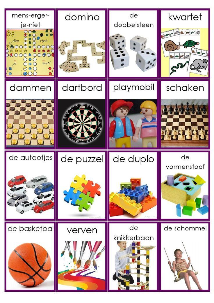 Woordkaartjes speelgoed