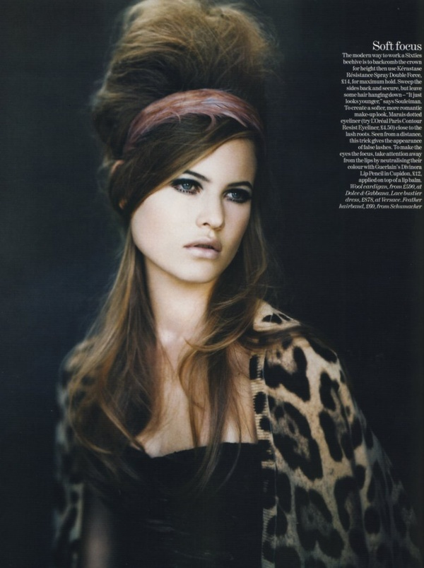 60s: Beautiful Inspiration, Paolo Roversi, Behati Prinsloo, Vogue Uk, September 2005, Leopards Prints, 60S Hair, Victoria Secret Angel, Hair Inspiration