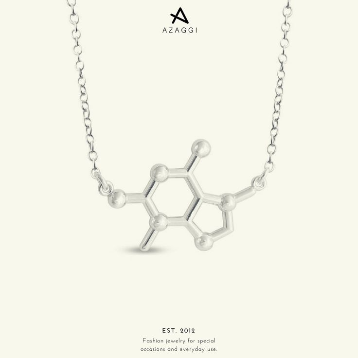 The molecule of chocolate! Have a sweet week! III #Azaggi #chocolate #molecule #necklace #fashion #accessory #jewelry #bijoux #bijouxlovers #premium #accessories #moda #instafashion #instastyle #fashionaddict #fashionable #fashionlover #glam #style
