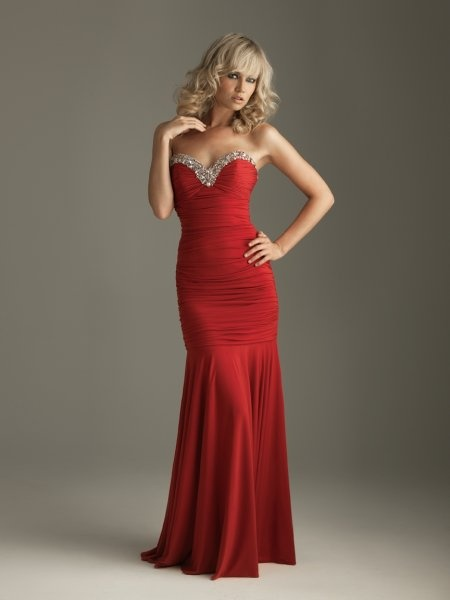 """I""""m thinking red for this years ball gown ...: Evening Dresses, Fashion, Red, Promdresses, Style, Sweetheart, Prom Dresses, Mermaid"""