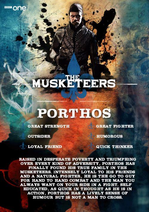 Meet Porthos (Howard Charles) - The Musketeers.