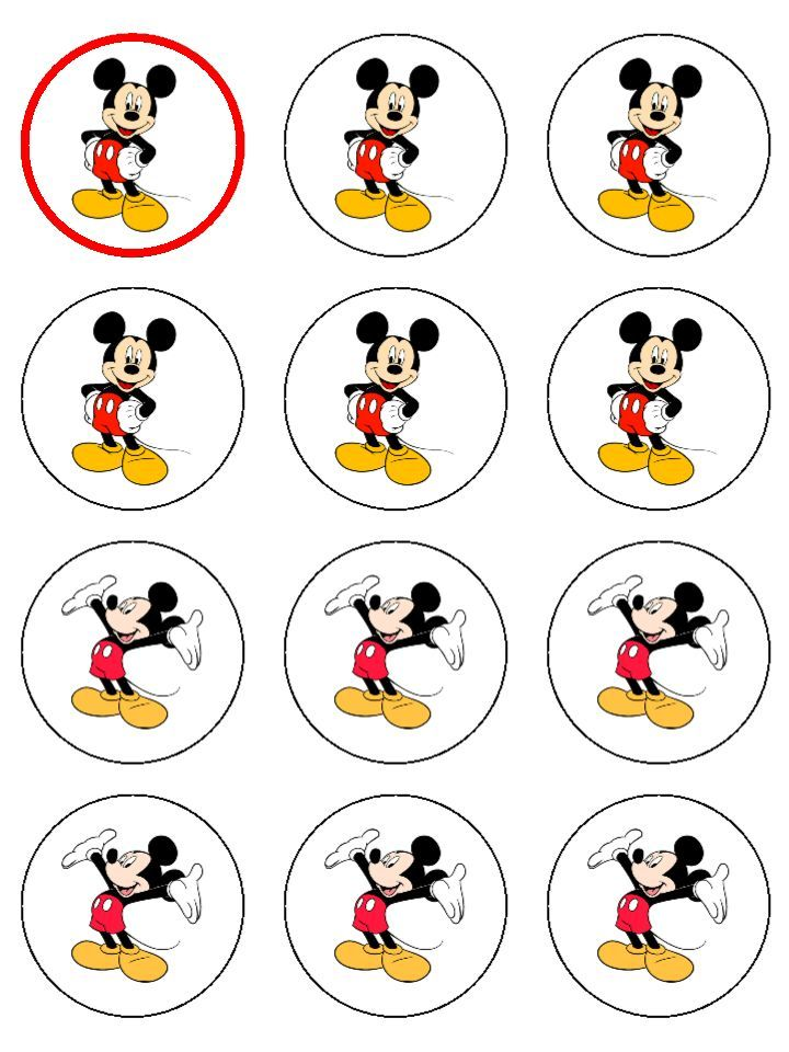 mickey mouse cake topper printable