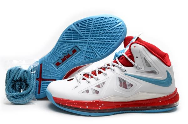 More and More Cheap Shoes Sale Online,Welcome To Buy New Shoes 2013 Lebron  10 Home White Crimsons Chlorine Blue 541100 001 [Nike Basketball Shoes -  Lebron ...