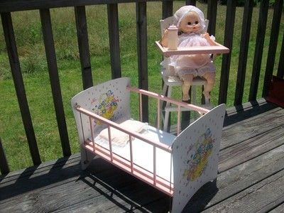 Doll bed and high chair - 125 Best 1950s Doll Cribs Images On Pinterest 1950s, Toys And