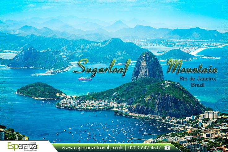 Sugarloaf Mountain, Rio de Janeiro, Brazil:  |    #Sugarloaf #Mountain is a #peak situated in Rio de Janeiro, #Brazil, at the mouth of #Guanabara #Bay on a #peninsula that sticks out into the #Atlantic #Ocean.  |    Source: https://en.wikipedia.org/wiki/Sugarloaf_Mountain  |    #SugarloafMountain #RiodeJaneiro #Flights #Travel #SouthAmerica #FlightstoBrazil  |    South America #TravelExperts: http://www.esperanzatravel.co.uk/flights-to-rio-de-janeiro.php