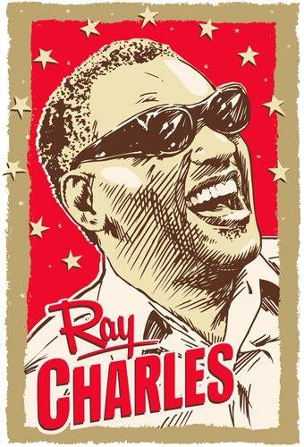Ray Charles Pop Art Print 13x19 by RedRobotCreative on Etsy