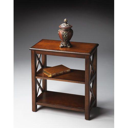 butler specialty company plantation cherry bookcase