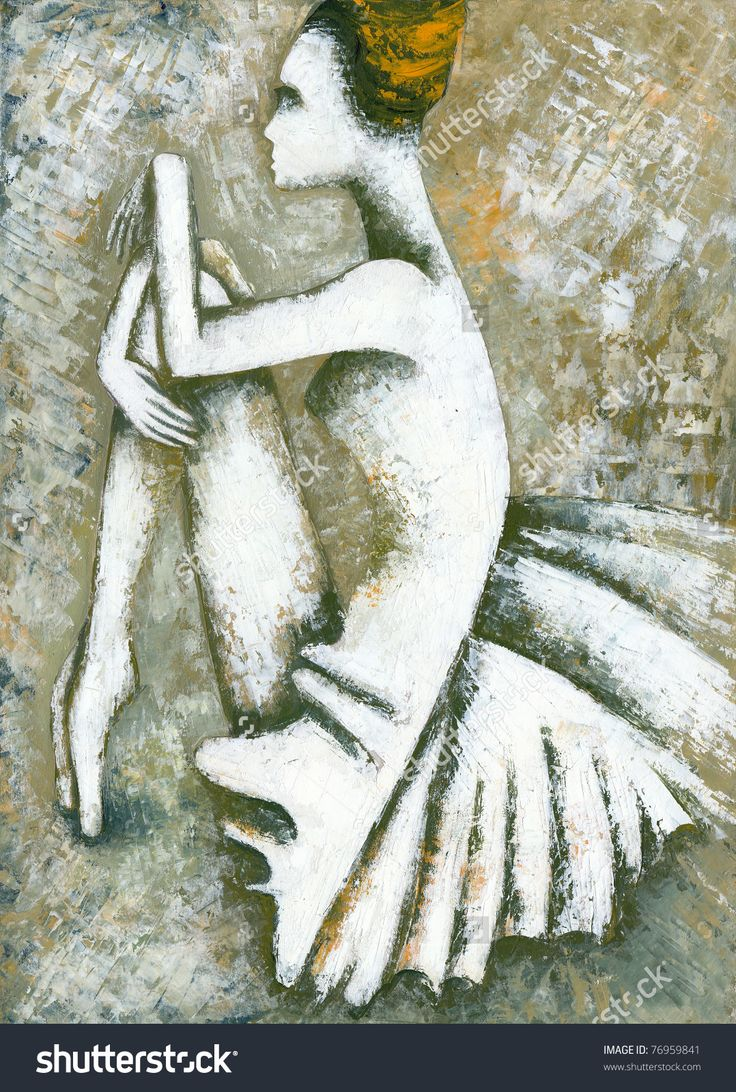 Ballet Dancer by Eugene Ivanov. #eugeneivanov #elegant #woman #portrait #lady #painting #art #nude #cubism #girl #female #femina #@eugene_1_ivanov