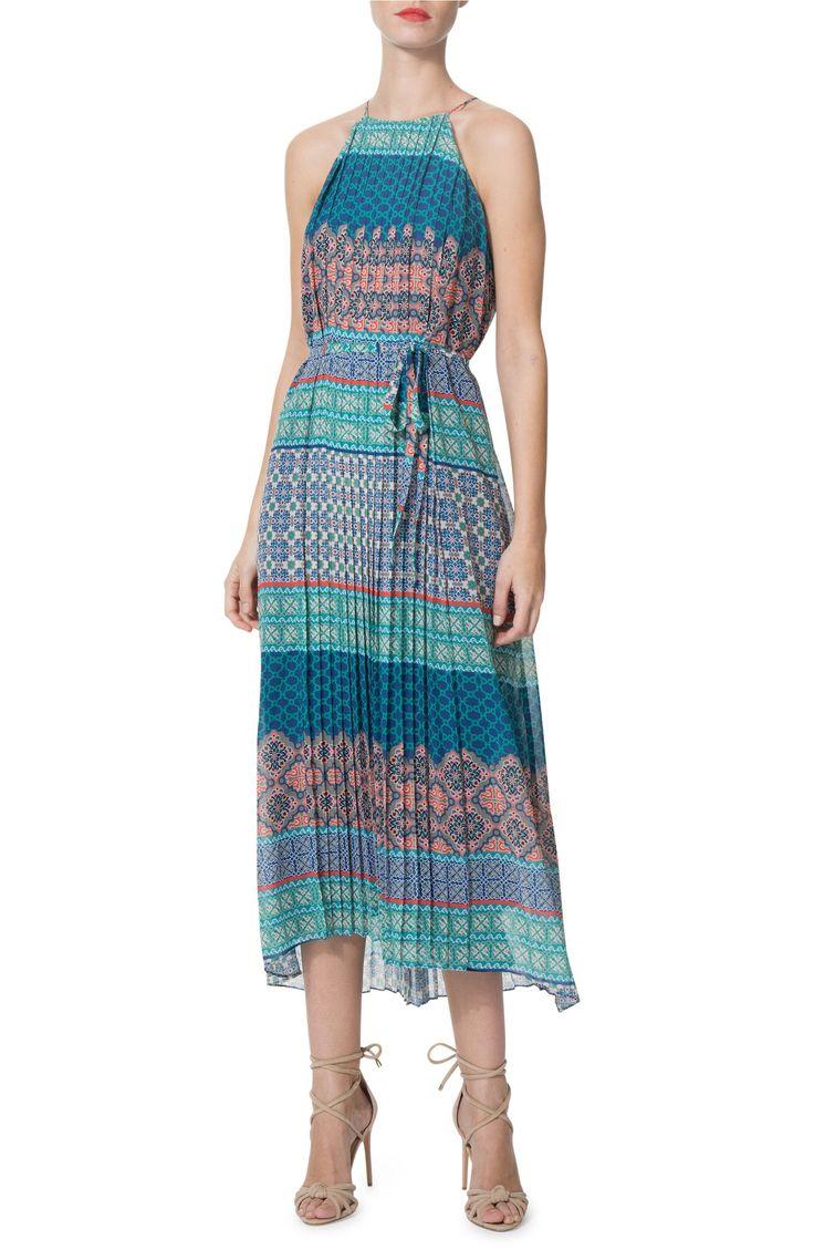 Main Image - Donna Morgan Sleeveless Chiffon Midi Dress