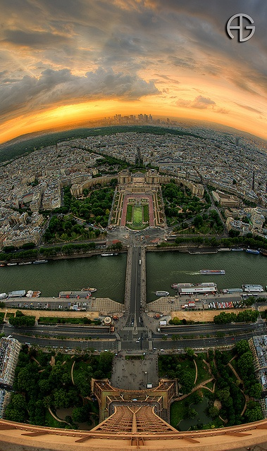 Top of the world (Paris)   by A.G. Photographe: Tops, Eiffel Towers, Sunsets, The View, Beautiful, Paris France, Amazing View, Places, Photography