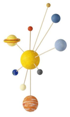 Cool gifts for kids under $15: DIY Solar system craft kit to assemble and paint yourself.