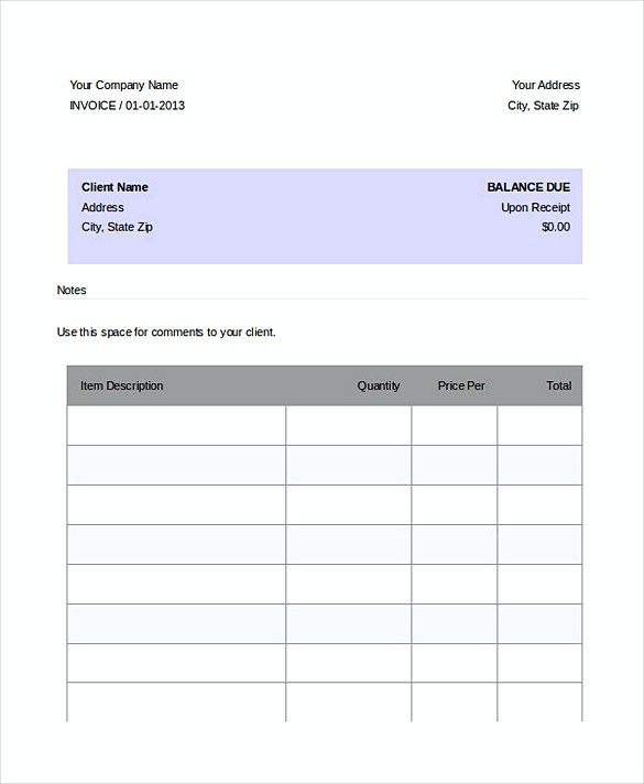 Best Invoice Templates Images On   Patterns Cv