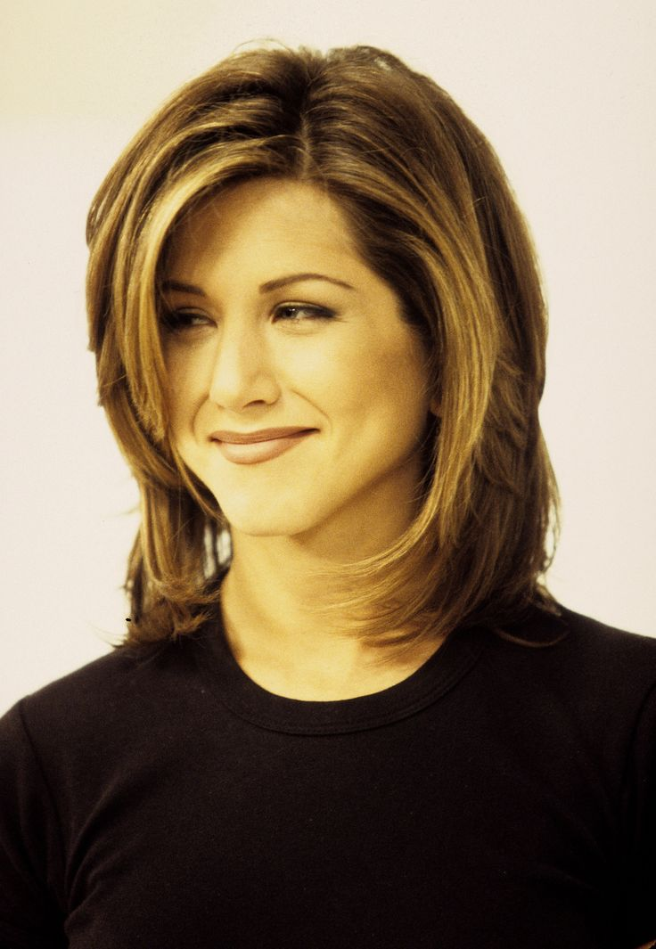 Back to the future? May do this with my hair bc growing it out now that coming back healthier .... Jennifer Aniston and the Rachel Haircut | POPSUGAR Beauty