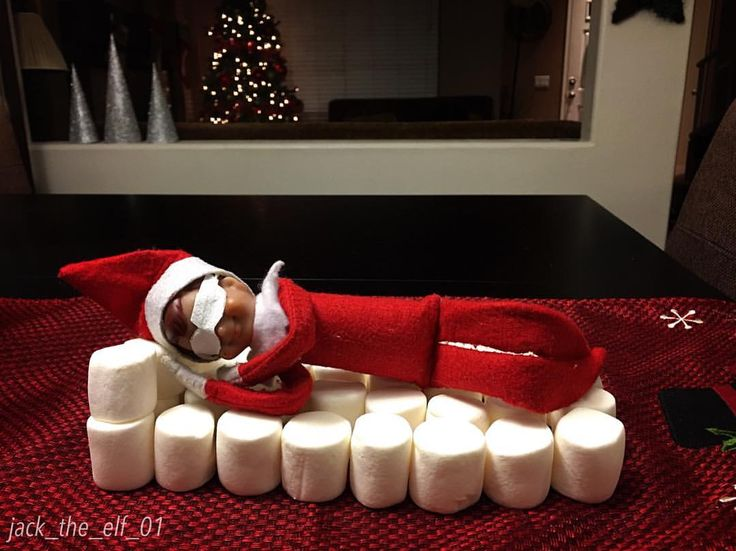 "31 Likes, 1 Comments - Jack The Elf On The Shelf (@jack_the_elf_01) on Instagram: ""Day 3: Jack has a long journey ahead...so a well deserved rest in a fluffy, comfy & sweet bed …"""