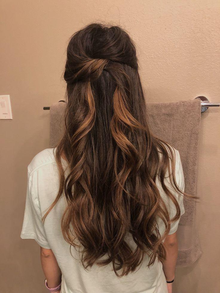 Halb Oben Halb Unten Prom Hochzeit Frisur Frisur Halb Hochzeit Oben Pr Hairstyles Hairs Hair Styles Wedding Hair Down Long Hair Styles