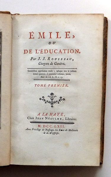 First Editions of Rousseau's Contract Social & Emile. This and more rare books for sale on CuratorsEye.com