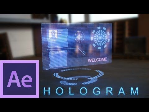 After Effects Tutorial: Hologram - YouTube