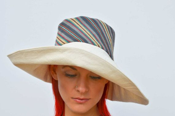 Hey, I found this really awesome Etsy listing at https://www.etsy.com/listing/236529059/wide-brim-cream-hat-summer-hat-floppy