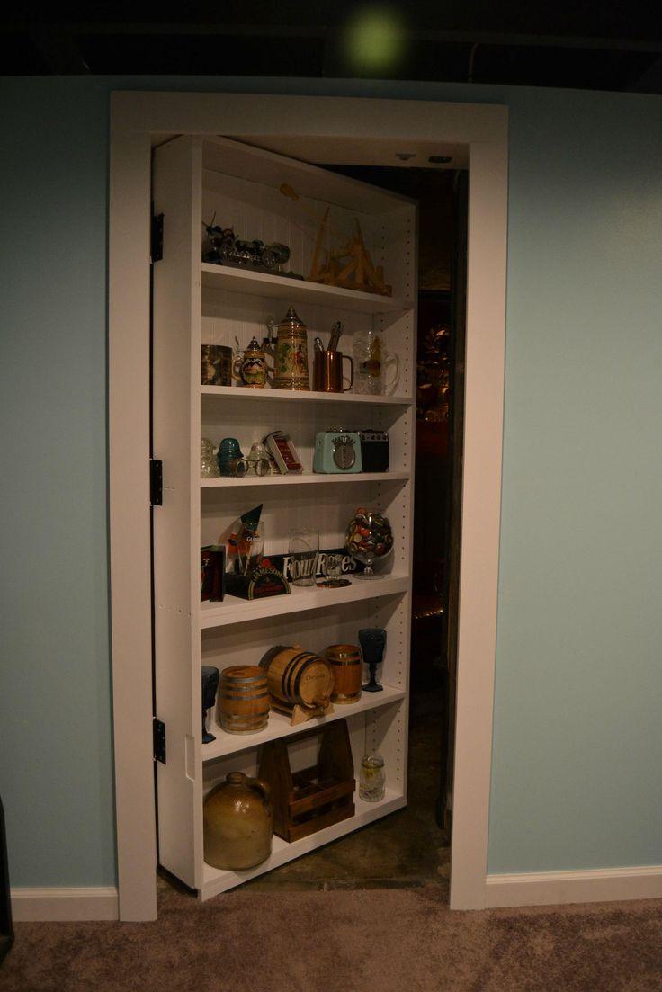 A secret door hidden in a book case leads to one incredible hidden cigar lounge.