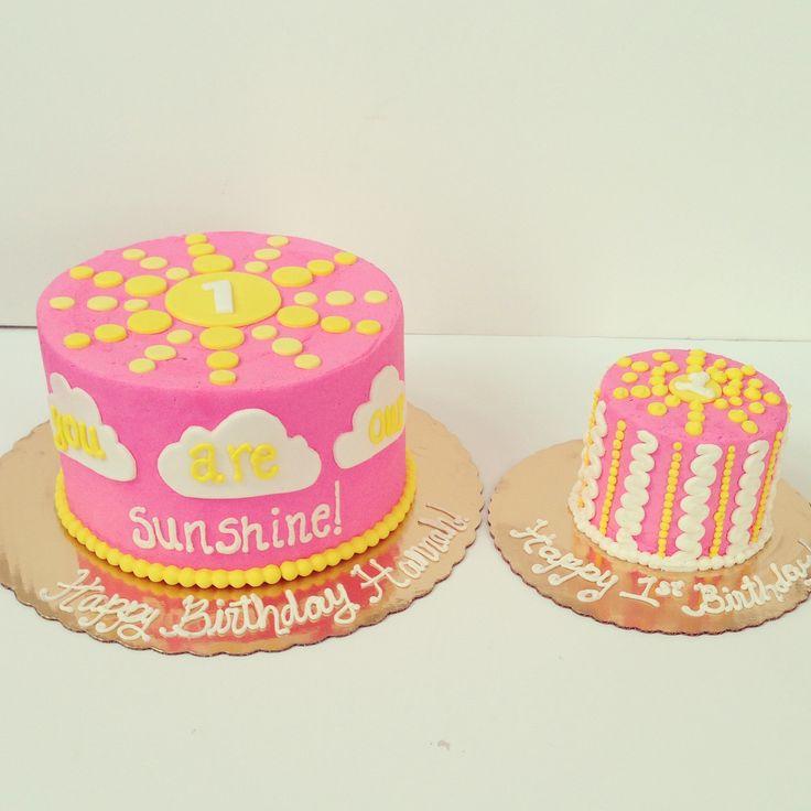 you are my sunshine cake and smash cake