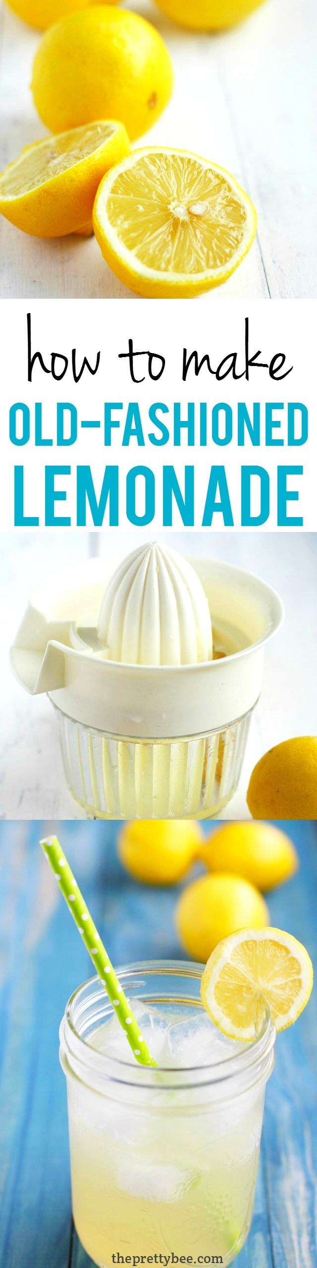 There's nothing like a glass of cold lemonade on a hot summer day! This recipe for old fashioned lemonade is the best!