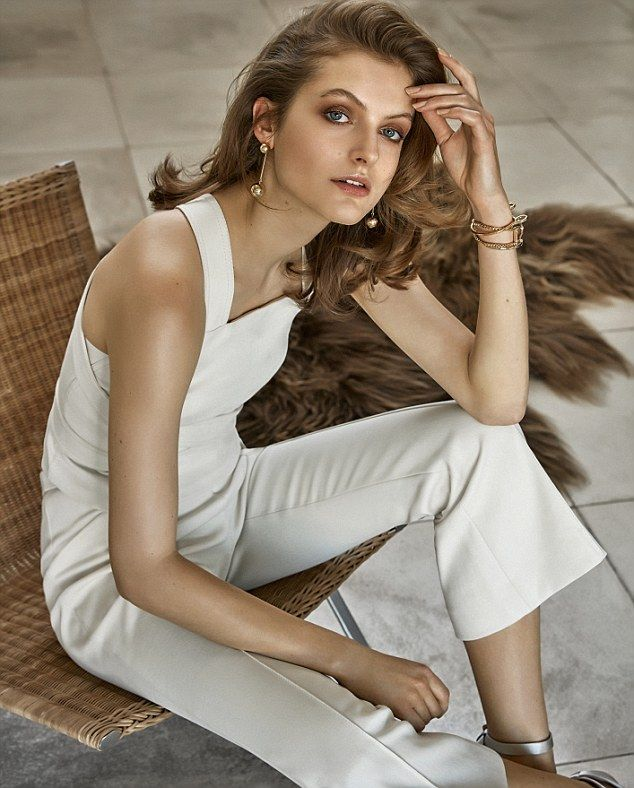 TOP, £690, and TROUSERS, £720, both Rosetta Getty, from Harvey Nichols. EARRINGS, £18, Dos...