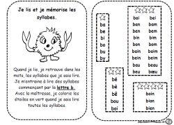 Fiches syllabes, lire, lecture, Cp, Ce1, dixmois