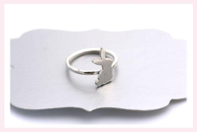 Silver Bunny Ring by Janine Binneman Jewellery Design
