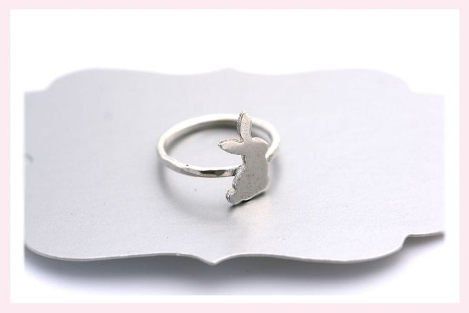 Silver Bunny Ring by Janine Binneman Jewellery Design