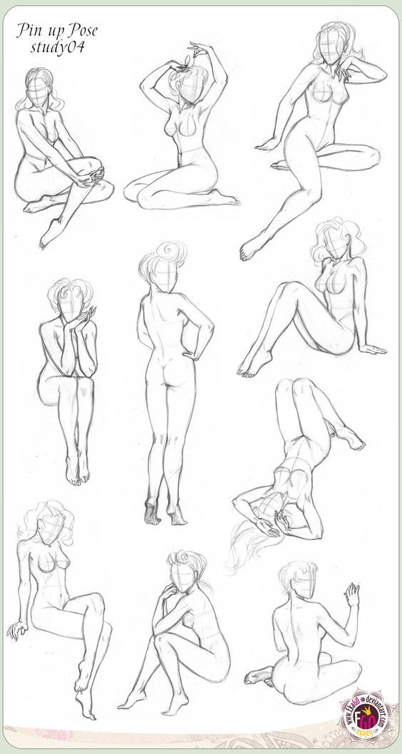 450 Pin up ten Pose study04 by GALEKA-EKAGO.deviantart.com on @deviantART: