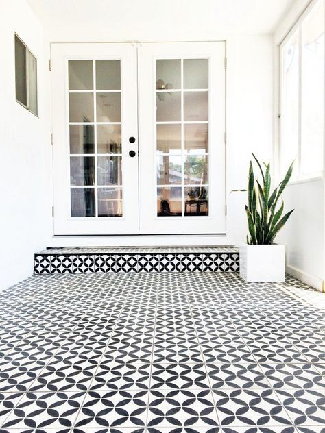 Patio Flooring Home Depot Decor Victorianblackandwhitemosaictilepathmetal Black And White Vinyl Floor Tile Checkered Kitchen Backsplash Outdoor Over