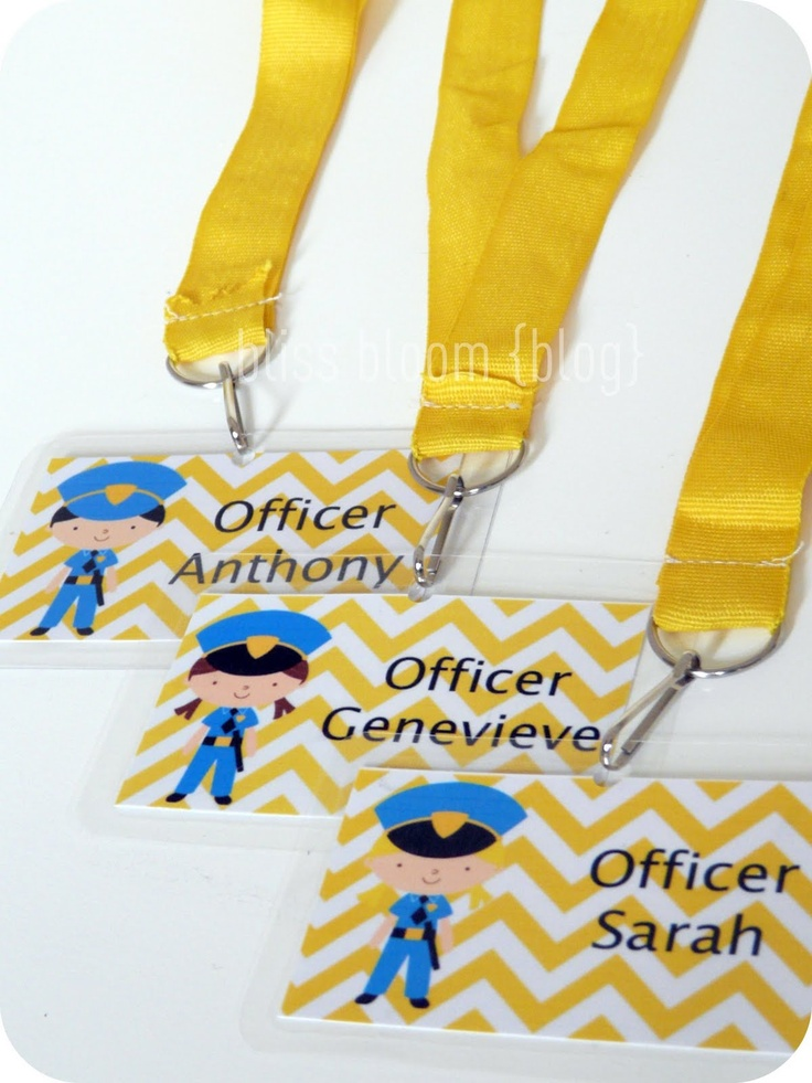 "Police themed party - lots of fantastic ideas here for favours, ""donuts"", decorations, all fairly easy and inexpensive!"