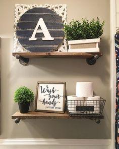 Top Best Decorating Bathroom Shelves Ideas On Pinterest