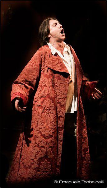 Verdi's Rigoletto at St. Mark's Opera in Florence - il Duca di Mantova - fotografo Emanuele Teobaldelli