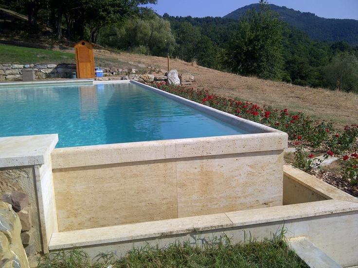 We have been called by Bernardo Tori Architectural firm to do a survey on a swimmingpoll in Radicondoli. There is a problem with the travertine borded that is leaking. We will solve the problem for them!