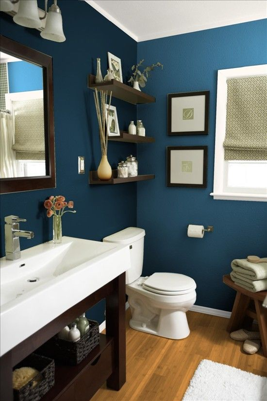 Steep cliff gray benjamin moore whatever color it is it for Blue bathroom ideas