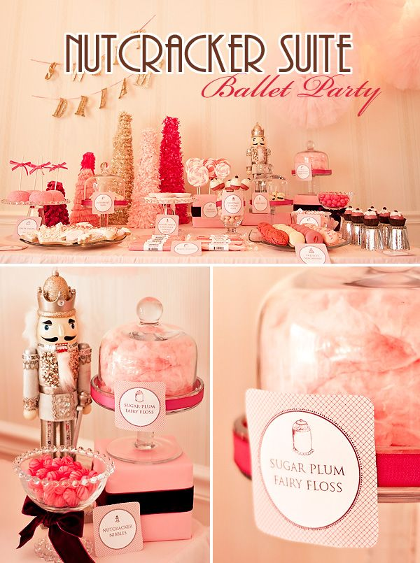Darling PINK Nutcracker Suite Ballet Party - http://blog.hwtm.com