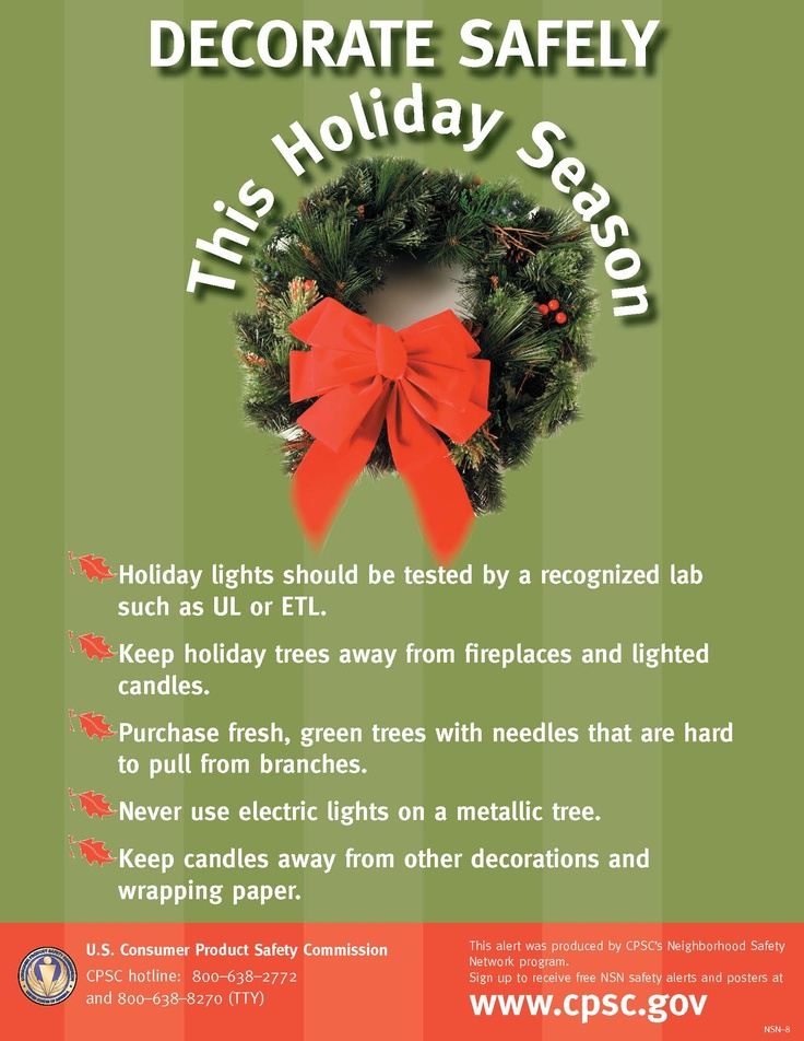 Holiday Decorating Safety Tips Safety tips, Health