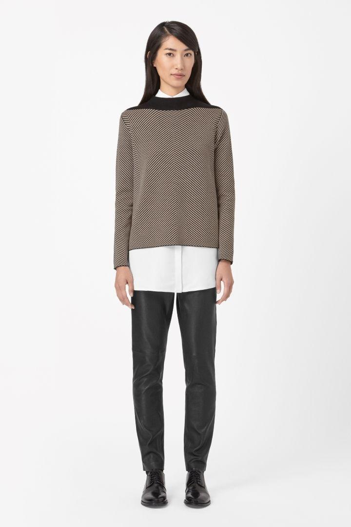 COS | Flared jacquard jumper