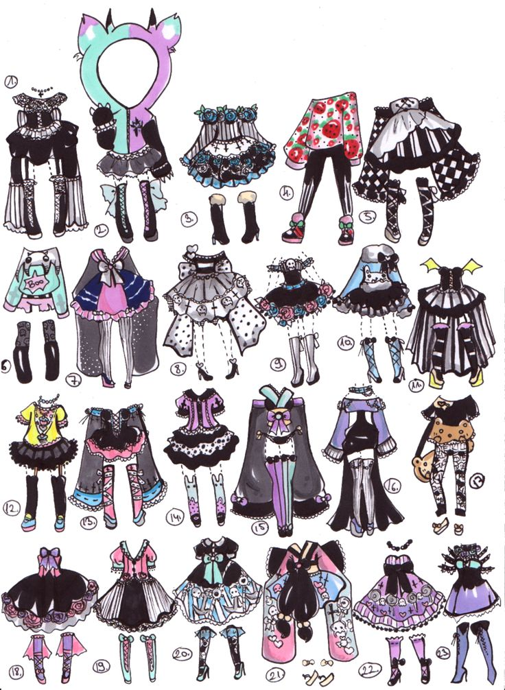 Closed- PastelGoth adopts by Guppie-Adopts on deviantART | clothes | Pinterest | Tru00e6er Tegn og ...